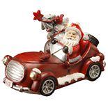 "National Christmas Tree 7"" Santa Car Table Decor"