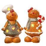 "National Christmas Tree 7"" Gingerbread Couple Table Decor"