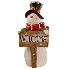 National Christmas Tree 28' Lighted Snowman Table Decor