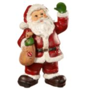 "National Christmas Tree 8"" Santa Figurine Table Decor"