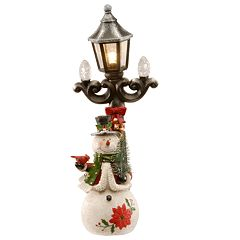 National Christmas Tree 13.5' Snowman and Lamppost Floor Decor