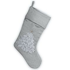 National Christmas Tree 19' Silver Stocking