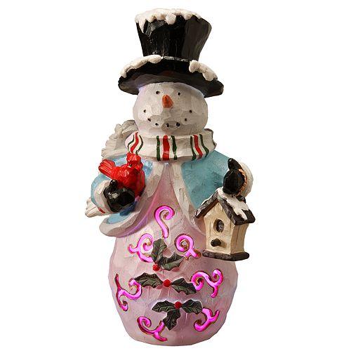 "National Christmas Tree 11"" Lighted Holiday Snowman Decor"