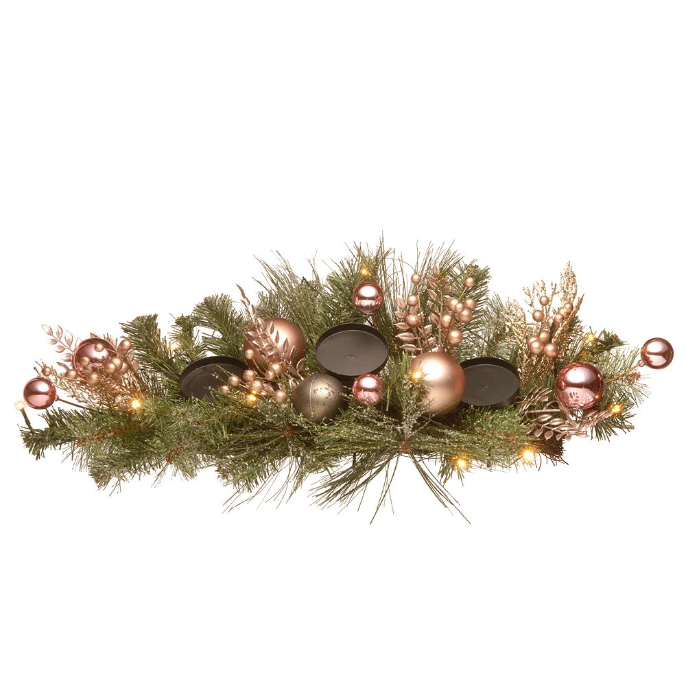 """National Christmas Tree 26"""" Decorated Pine Centerpiece"""
