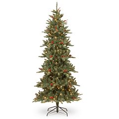 National Tree Co. 7.5 ft. Richland Blue Fraser Fir Artificial Christmas Tree with Clear Lights