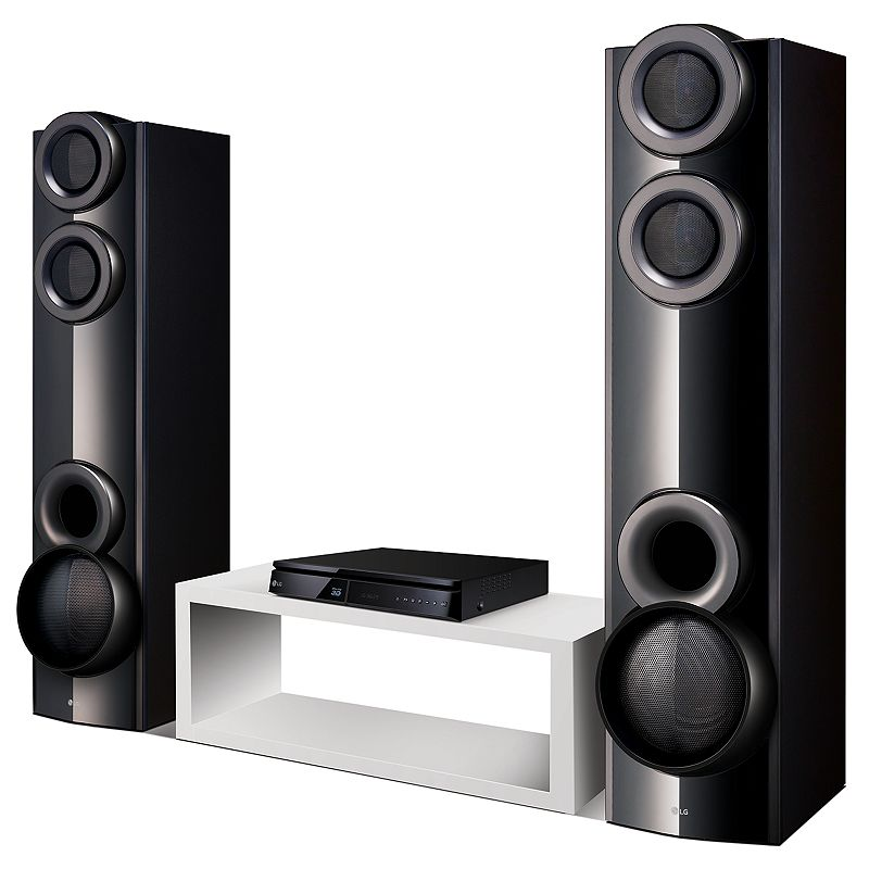 LG 3D-Capable 1000W 4.2ch Blu-ray Disc Home Theater System, Black Enjoy quality surround sound for your movies, games and music with this LG 3D-Capable 1000W 4.2ch home theater system. Built-in subwoofers powerfully reproduce bass and enrich the overall entertainment experience without taking up additional floor space Bluetooth wireless connectivity easily links portable devices such as smartphones and tablets—as well as compatible televisions If you have a 3D-capable television, this player lets you enjoy visually spectacular Hollywood blockbusters on Blu-ray 3D Disc™, in stunning quality WHAT'S INCLUDED Speakers FM antenna Remote Two AAA batteries Speaker cable Speaker: 39.2 H x 9.1 W x 12.2 D Main unit: 2.4 H x 14.2 W x 12.2 D Weight: 63.8 lbs. Speaker output: 1000W Connections: HDMI, optical input, USB Wireless: Bluetooth For information about the modified return policy, please click here Manufacturer's 1-year limited warranty For warranty information please click here Size: One Size. Color: Black. Gender: unisex. Age Group: adult.