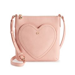 LC Lauren Conrad Heart Pocket Crossbody Bag