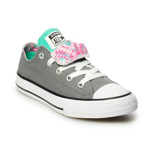 763b14a8eaaed7 Girls  Converse Chuck Taylor All Star Double Tongue Sneakers
