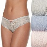 Wallflower 3-Pack Rose Lace Hipster JC4011WFA