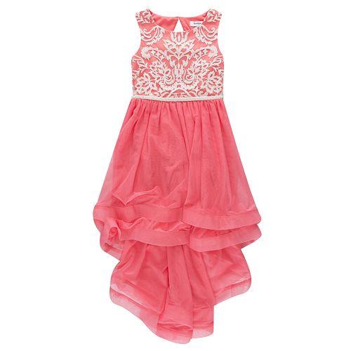Girls 7-16 Speechless Ruffle & Embroidered Tulle Dress