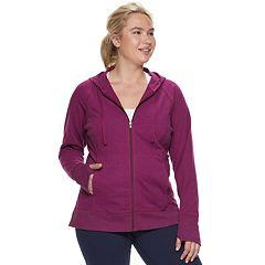 Plus Size Tek Gear® Hooded Zip Up Jacket