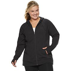 86d866a39a4 Plus Size Tek Gear® Hooded Zip Up Jacket