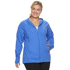 Plus Size Tek Gear® Hooded Zip Up Jacket