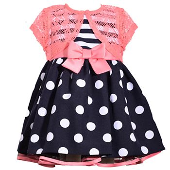 f8f56d79c Toddler Girl Bonnie Jean Striped Polka-Dot Dress