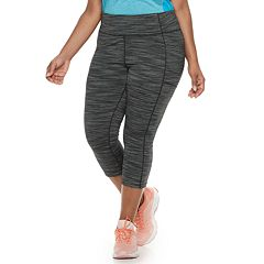 1692b91cc20ef6 Plus Size Tek Gear® Space-Dye Mid-Rise Capri Leggings