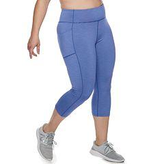 7b649a2d069961 Plus Size Tek Gear® Space-Dye Mid-Rise Capri Leggings