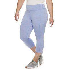 Plus Size Tek Gear® Space-Dye Mid-Rise Capri Leggings