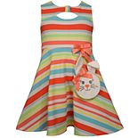 Toddler Girl Bonnie Jean Striped Keyhole Dress
