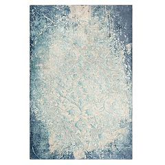 Rizzy Home Emma Vine Scroll Distressed Rug