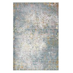 Rizzy Home Princeton Distressed Scroll Vine Rug