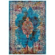 Rizzy Home Princeton Jewel Tone Medallion Rug
