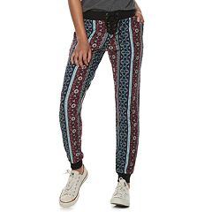 Juniors' Mudd® Printed Lace Up Joggers
