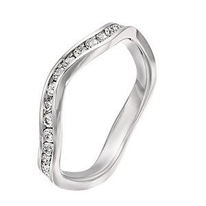 Brilliance Swarovski Birthstone Stackable Wave Ring