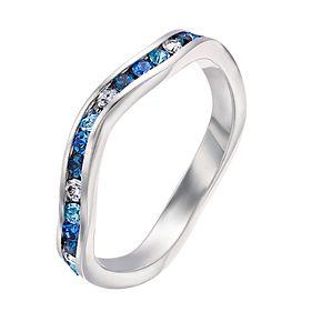 Brilliance Swarovski Multicolor Wave Ring