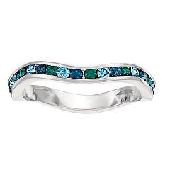 Brilliance Swarovski Multicolor Wave Ring