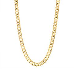 Men's Sterling Silver Cuban Curb Chain Necklace