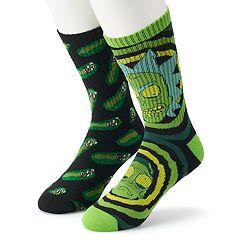 Men's Rick & Morty 2-Pack Crew Socks