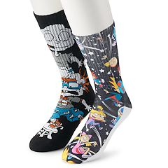 Men's Nickelodeon 2-Pack Crew Socks