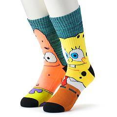 Men's SpongeBob SquarePants 2-Pack Crew Socks