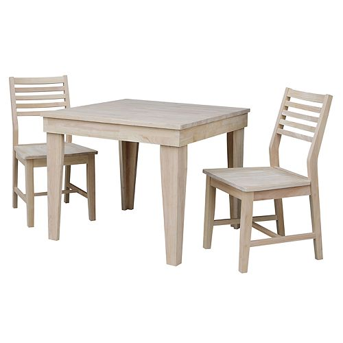 International Concepts Aspen Unfinished Dining Table Chair