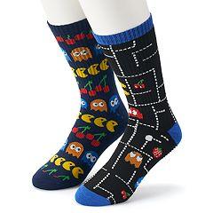 Men's Pac-Man 2-Pack Crew Socks