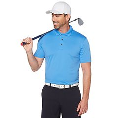 Men's Grand Slam Off Course Classic-Fit Textured Pebble Solid Golf Polo