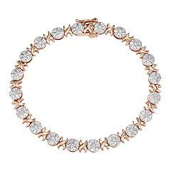 10k Gold 1/2 Carat T.W. Diamond Bracelet