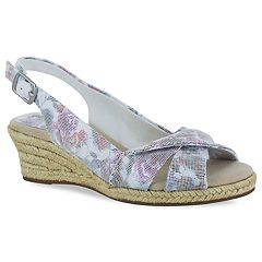 f2a5e506c Easy Street Maureen Women s Espadrille Wedge Sandals