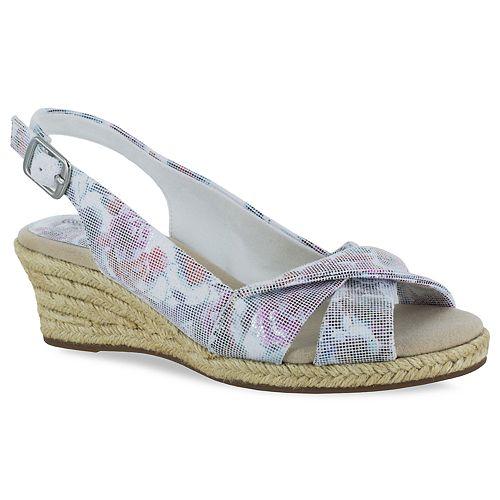 2365190be31e Easy Street Maureen Women s Espadrille Wedge Sandals