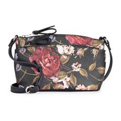 Dana Buchman Double-Zip Crossbody Bag