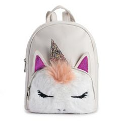 OMG Accessories Fuzzy Unicorn Backpack