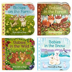 Lift a Flap Book 4-Pack: Animal Babies