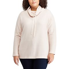 Plus Size Chaps Holiday Print Cowlneck Sweatshirt