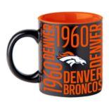 Boelter Denver Broncos Matte Black Coffee Mug