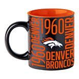 Boelter Denver Broncos Matte Black Coffee Mug