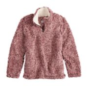 Girls 7-16 CS by Coffeeshop Frosted 1/4-Zip Midweight Whubby Jacket