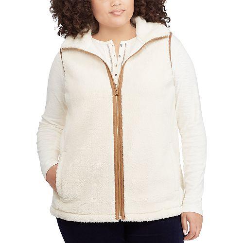 Plus Size Chaps Sherpa Vest