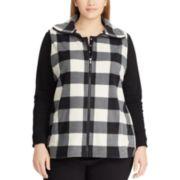 Plus Size Chaps Plaid Vest