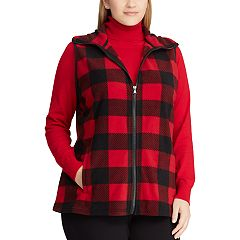Plus Size Chaps Plaid Vest