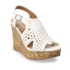 a775fde2f SO® Taffy Women s Wedge Sandals. Red Gray White Navy Black Light Blue  Natural Yellow. sale